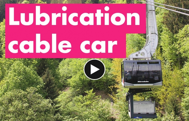 Automatic lubrication on cable cars